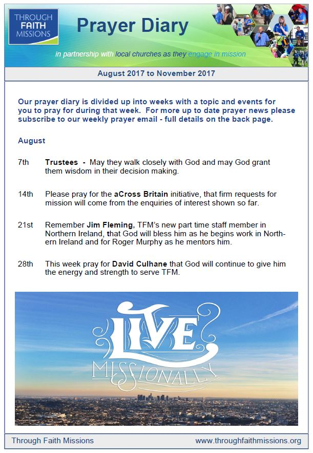 prayer diary august 2017 front